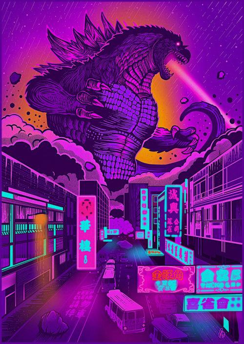 Illustration of Godzilla