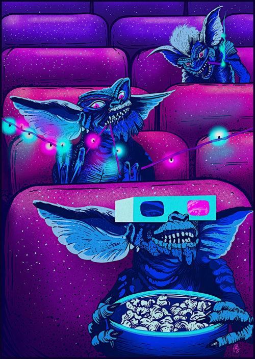 Ilustración de Gremlin en película 3d