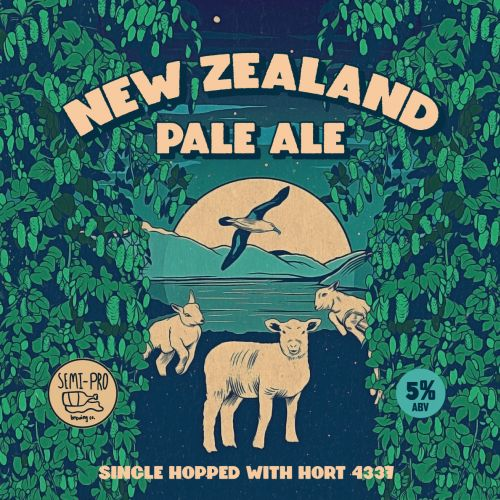 Graphic design for New Zealand Pale ale