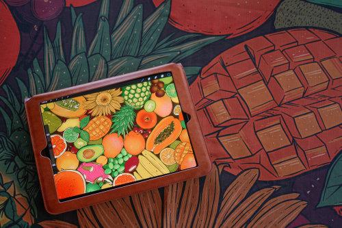 Pintura de frutas y verduras