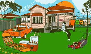 Mural illustration for Yak ales by Mel Baxter