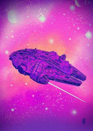 Graphic art of Star Wars Spaceship