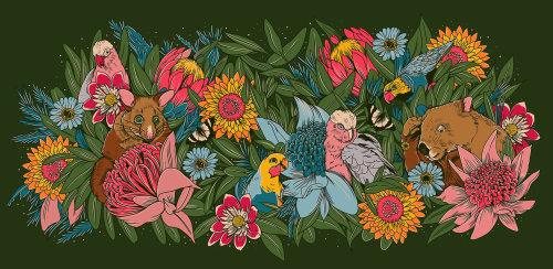 Aves y arboles de la naturaleza