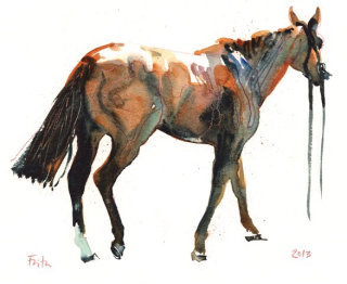 Horse animal painting