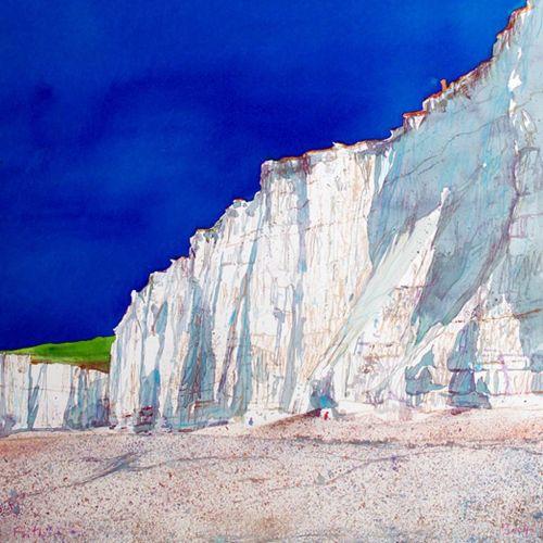 Ice slab landscape illustration