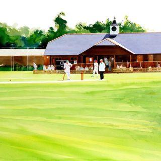 Graphic design of cricket ground