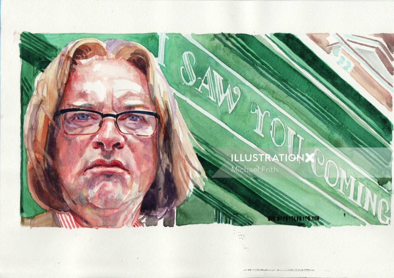 Harry Enfield portrait art