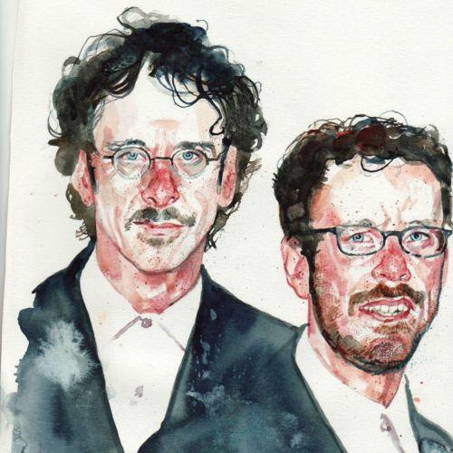 The Cohen Brothers portrait art