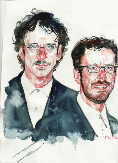 The Cohen Brothers portrait art