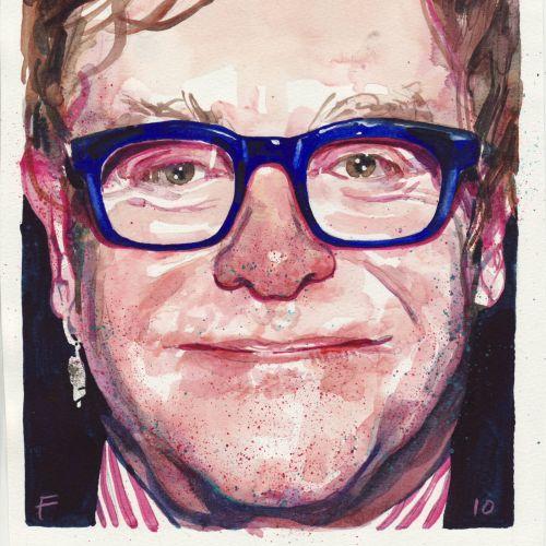 Elton John portrait