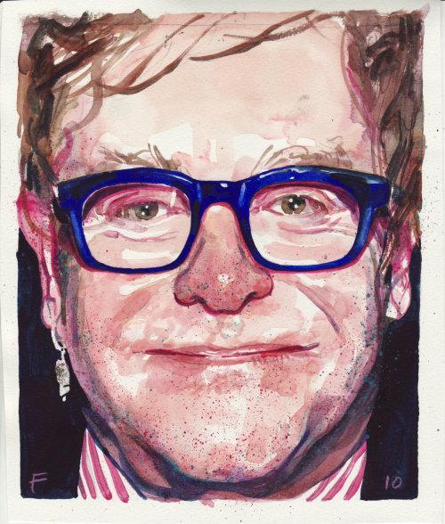 Retrato de Elton John