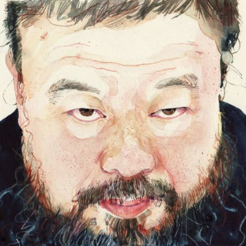 Chinese man portrait illustration