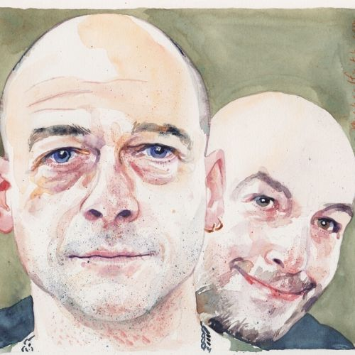 Watercolour Illustration of Chapman Brothers