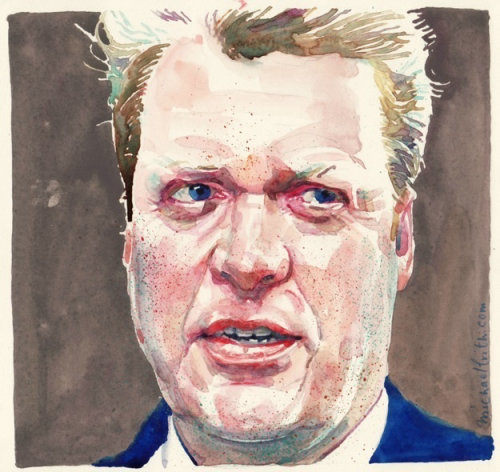 Man watercolor portrait art