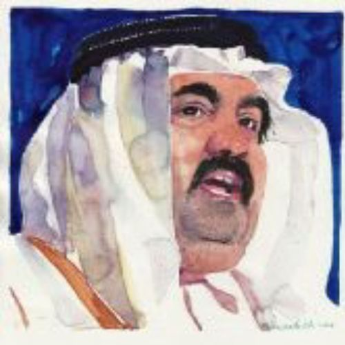 Arab Sheikh portrait art by Michael Frith
