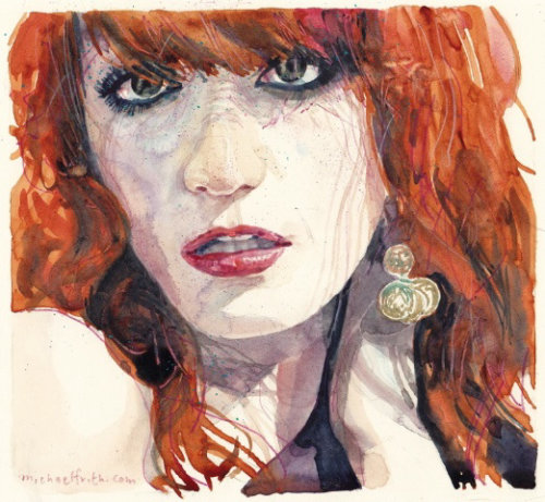 Portrait of Florence illustration by Michael Frith