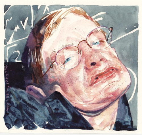 Stephen Hawking Portrait By Michael Frith