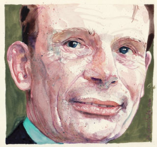 Andrew Marr Portrait By Michael Frith Illustrator