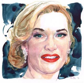 Kate winslet portrait illustration
