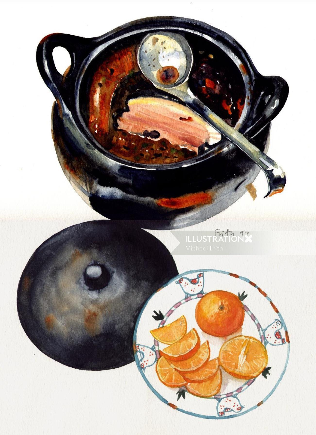 Food illustration by Michael Frith