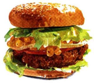 Mc grill burger | Food and Drink illustration
