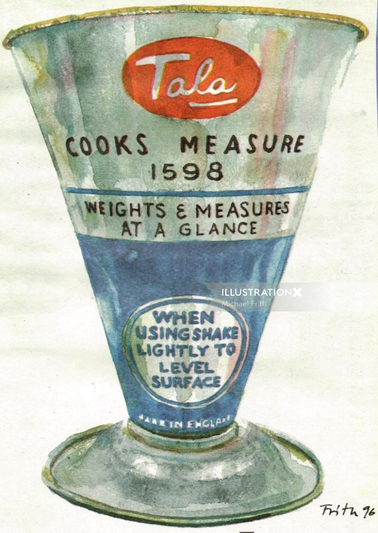 Packaging illustration of Tala cooks measure