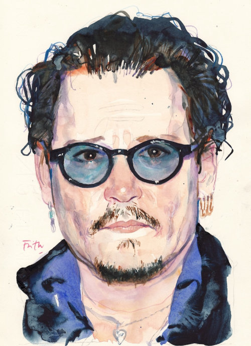 Retrato de Johnny Depp