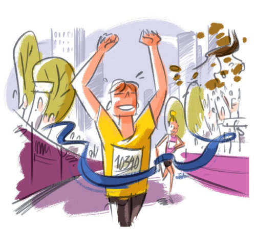 Graphic newyork marathon