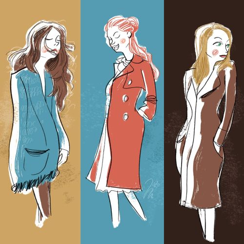 Fashion models illustration by Michael Mantel