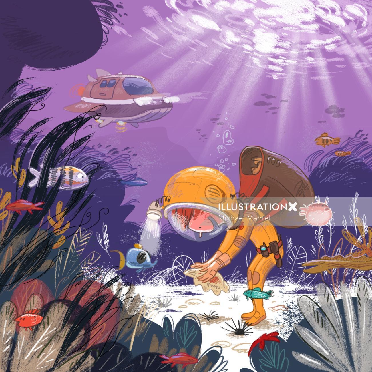 people Diver on an underwater adventure