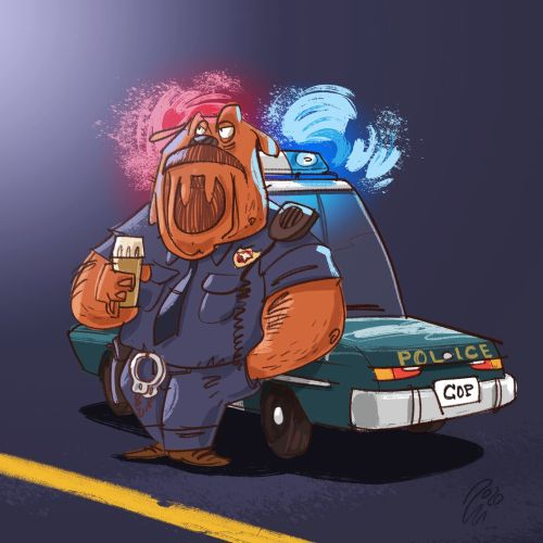 Cartoon & Humour Police Officer Brody Brown