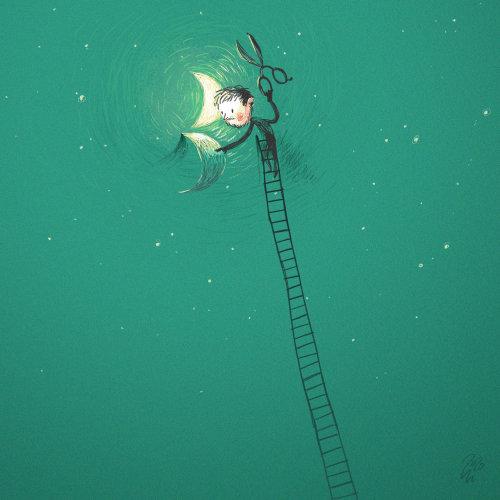 Moonlight maker illustration