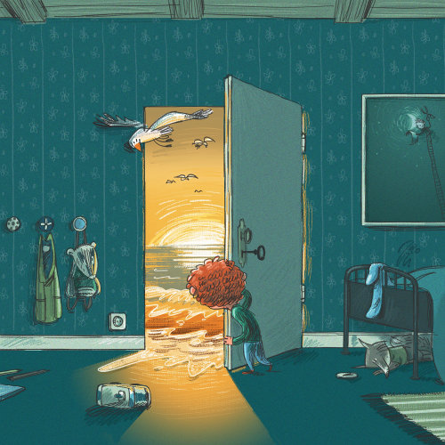 children open the door