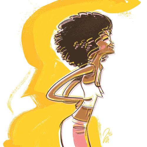 afro american girl joy