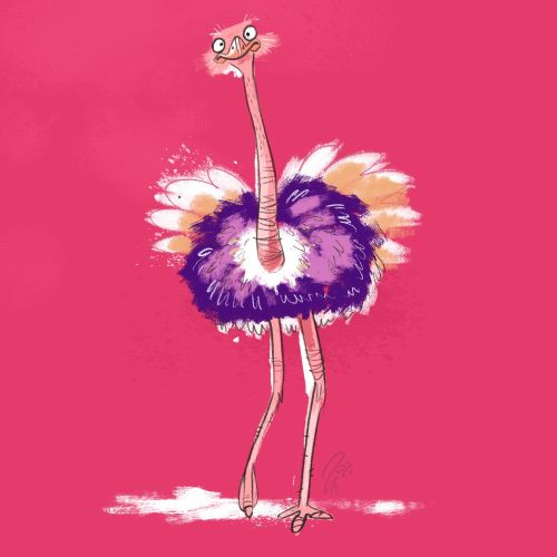 ostrich, pink, south african animals