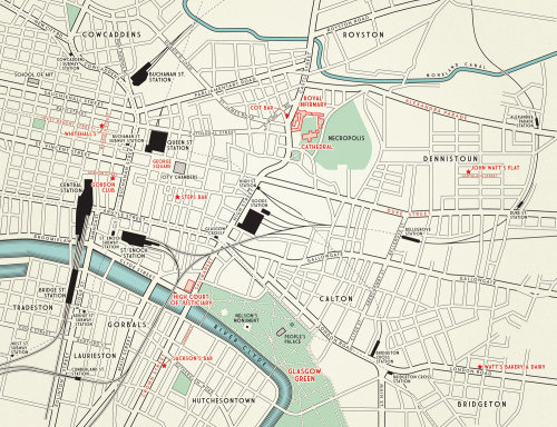 Mapa de Glasgow por Mike Hall