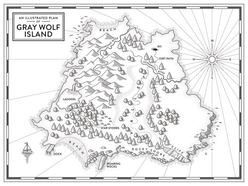 Island imaginary map by Mike Hall