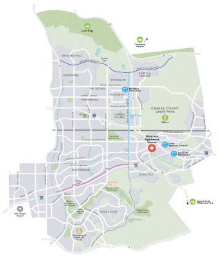 Illustrated route map of westview apartment homes