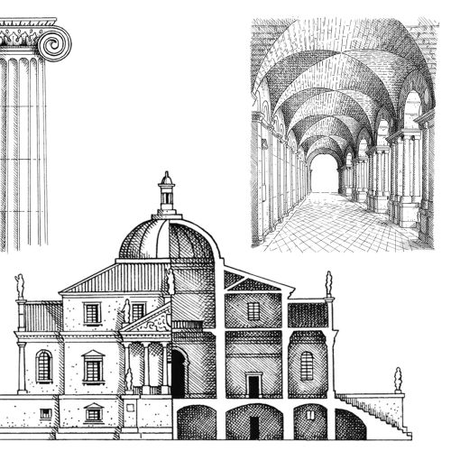 Palladian architectural designs by Mike Hall