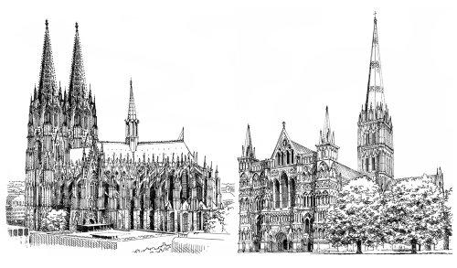 Cathédrale de Cologne - Illustration architecturale