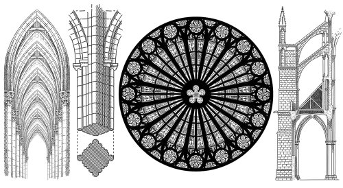Gothic architecture pattern designs