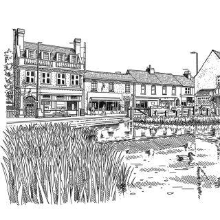 Street Scene   Architectural illustration
