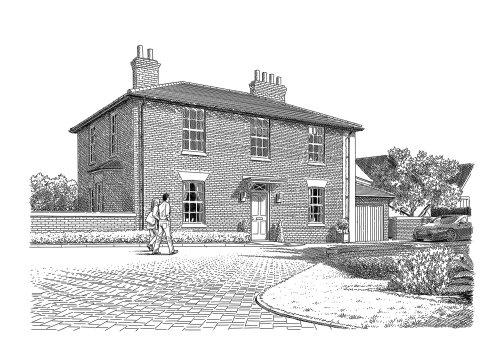 Illustration d'un immeuble résidentiel