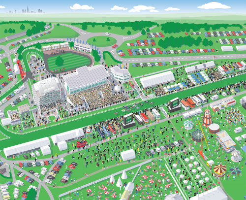 Epsom Racecourse illustrated map