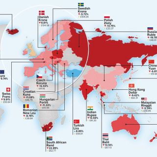 Map of world currencies by Mike Hall