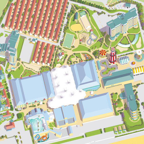 Mapa do resort Butlins Bognor Regis