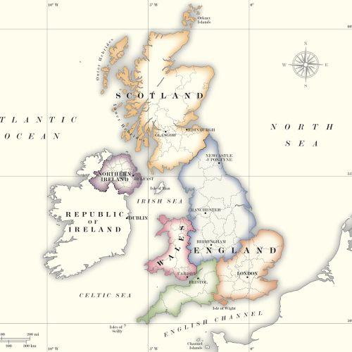 Map design of United Kingdom