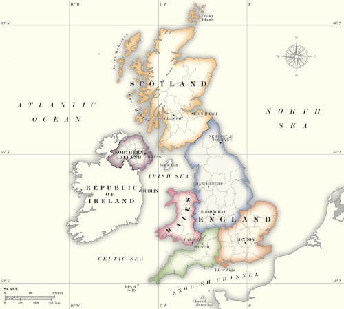 Map design of United Kingdom
