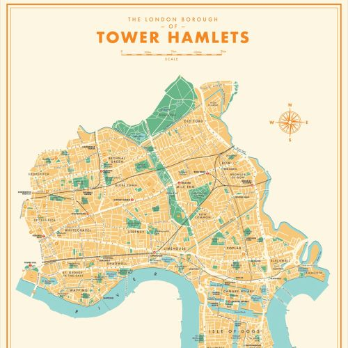 Tower Hamlets editorial illustration