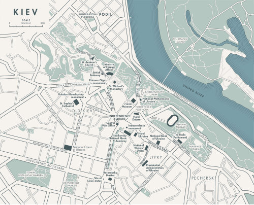 Map of Kyiv, Ukraine for 'Independence Square'